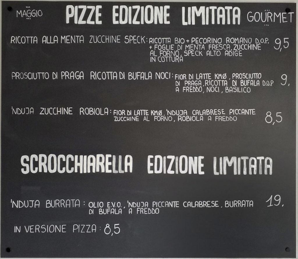 Nuove pizze speciali di Maggio- menu aggiornato!