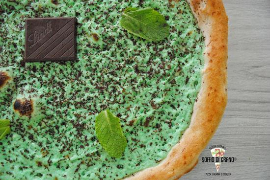 Pizza menta e cioccolato fondente - pizze in edizione limitata giugno - soffio di grano