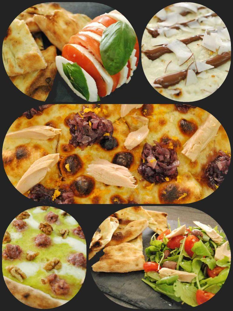 Collage pizze speciali agosto - Soffio di Grano