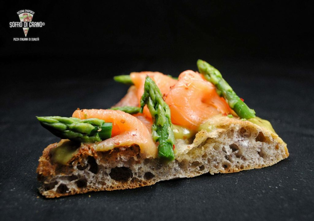 Edizione limitata - Scrocchiarella - Asparagi, salmone norvegese affumicato, Pepe rosa