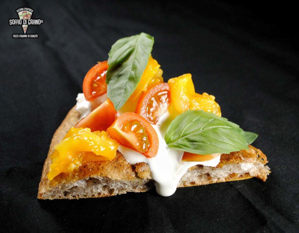 Edizione limitata - Scrocchiarella - Burrata, Pomodorini rossi, pomodorini gialli del piennolo del Vesuvio